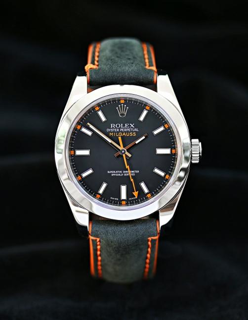 Rolex Milgauss schwarz 9