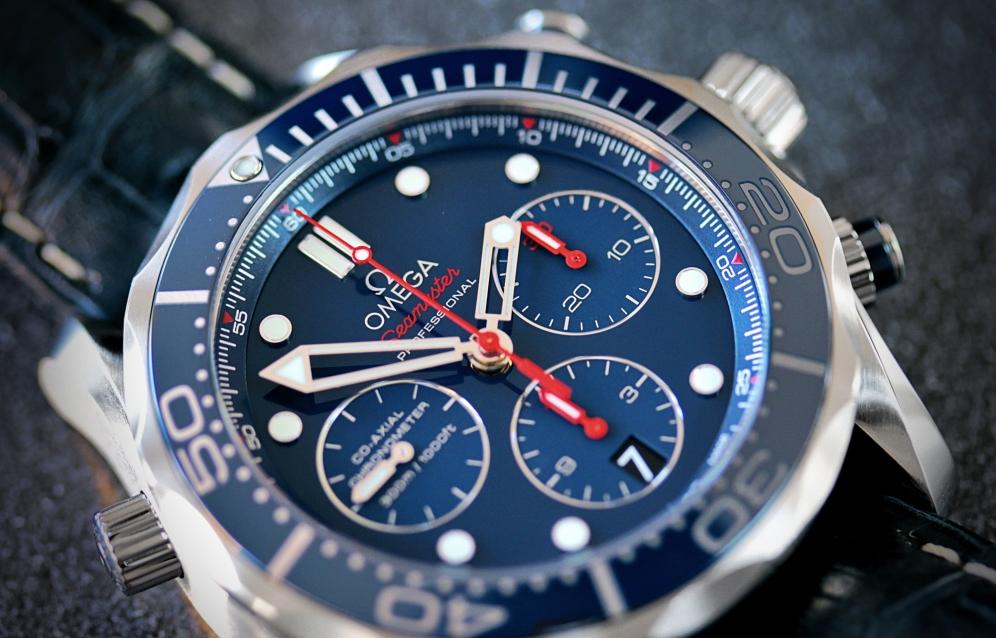 Omega Seamaster 300 Chrono blau 4