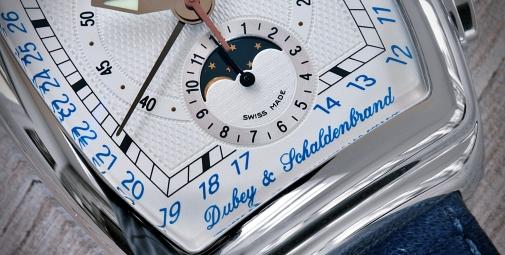 Dubey Schaldenbrand Grand Chrono weißblau 5